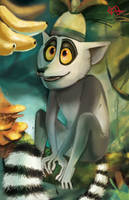 KING JULIEN AT THE JUNGLE by letjeong