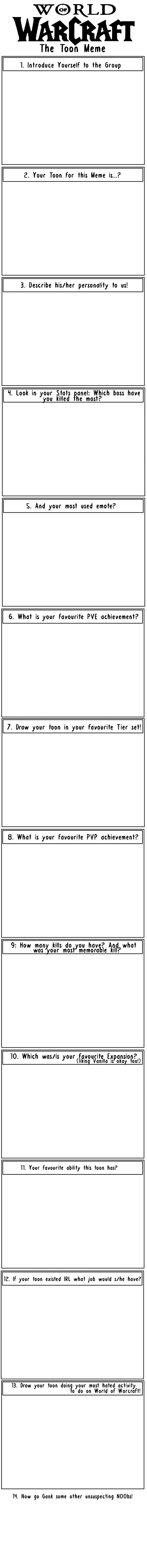 World of Warcraft: Toon Meme by Bhryn