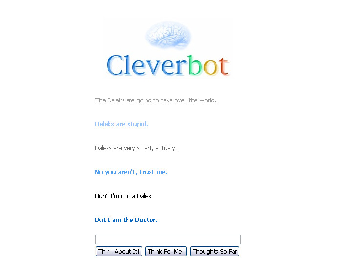 Cleverbot is...the Doctor? by StarlightWhispers