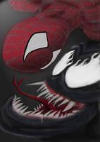 Spiderman and Venom by Sazazezer