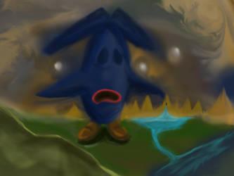 The giant blue by Sazazezer