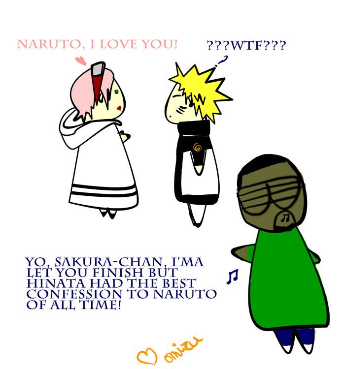 Sakura, Naruto and Kanye by Omizu69