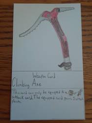 Climbing Axe Weapon Card