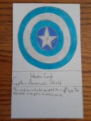 Captain America's Shield Weapon Card (Version 2)