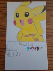 Pikachu Attack Card