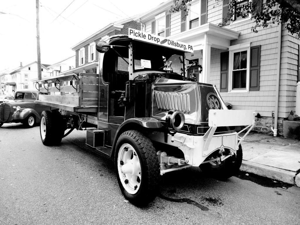 Dillsburg Pickle Drop Truck BW by TemariAtaje