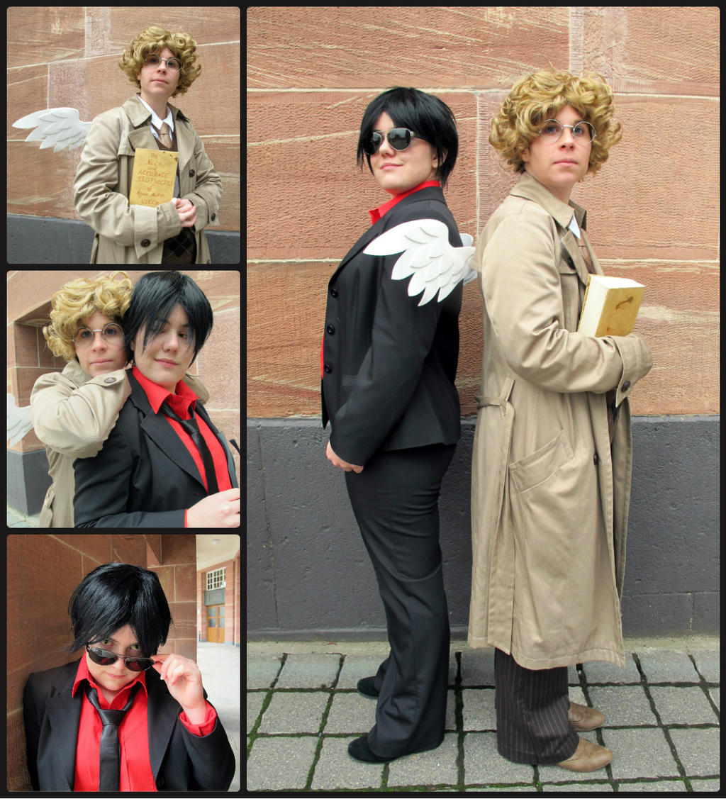 Good Omens - Crowley and Aziraphale by Nightrose85