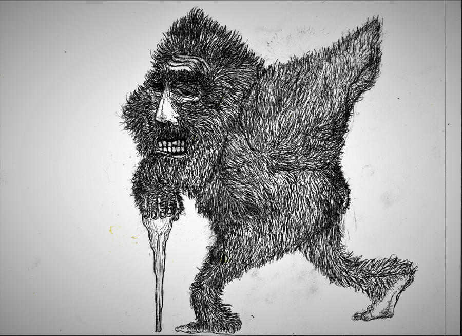 Old Bigfoot Sketch by nkijes24