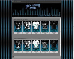 Bled To Death Apparel Website by JamesRuthless