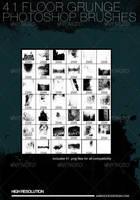 41 Floor Grunge Brushes by JamesRuthless