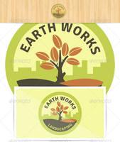 Earth Works Landscaping Logo by JamesRuthless