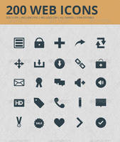 200 Web Icons by JamesRuthless