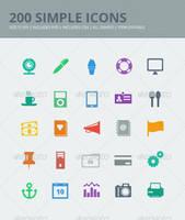 200 Simple Icons by JamesRuthless