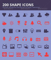 200 Shape Icons by JamesRuthless
