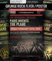 Grunge Rock Flyer / Poster by JamesRuthless