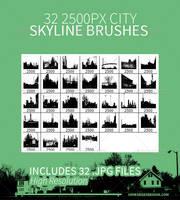 32 City Skyline Brushes by JamesRuthless
