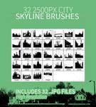 32 City Skyline Brushes