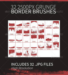32 Grunge Border Brushes by JamesRuthless