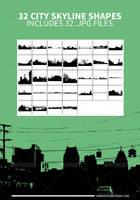 32 City Skyline Shapes by JamesRuthless