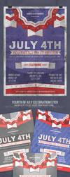 Fourth of July Celebration Flyer by JamesRuthless