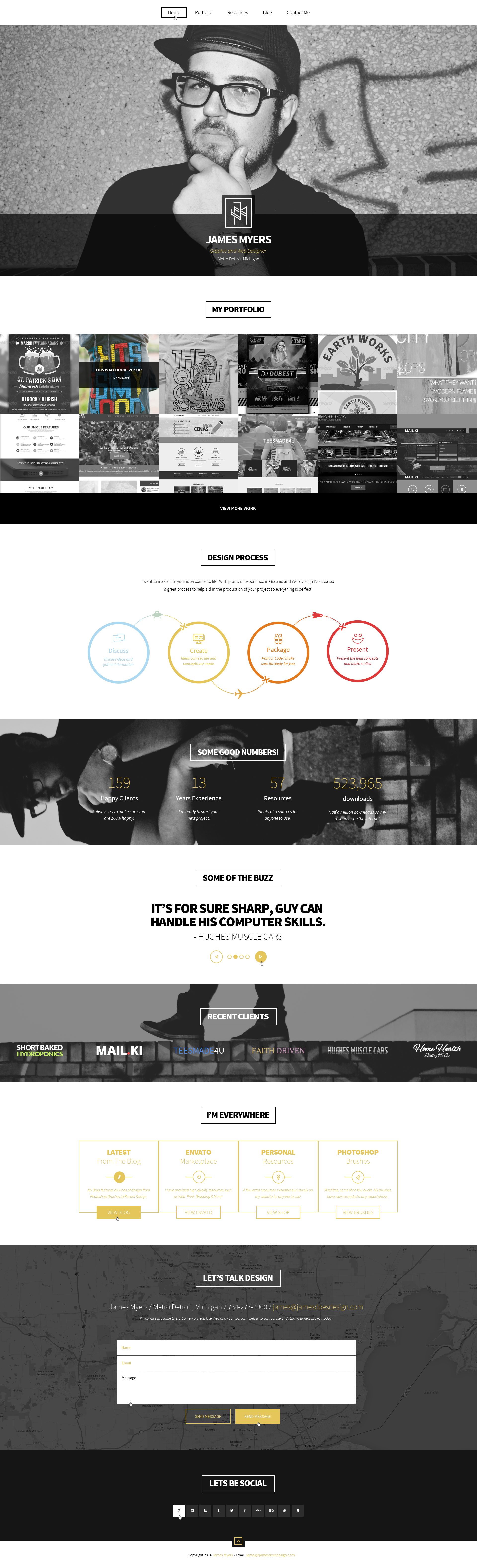 New Portfolio Home Page by JamesRuthless