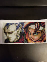 Magus and Crono Portraits Cross Stitch