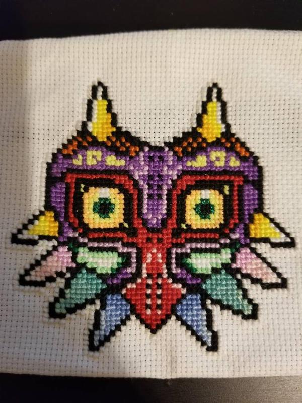 Majora's Mask Cross Stitch by raerit