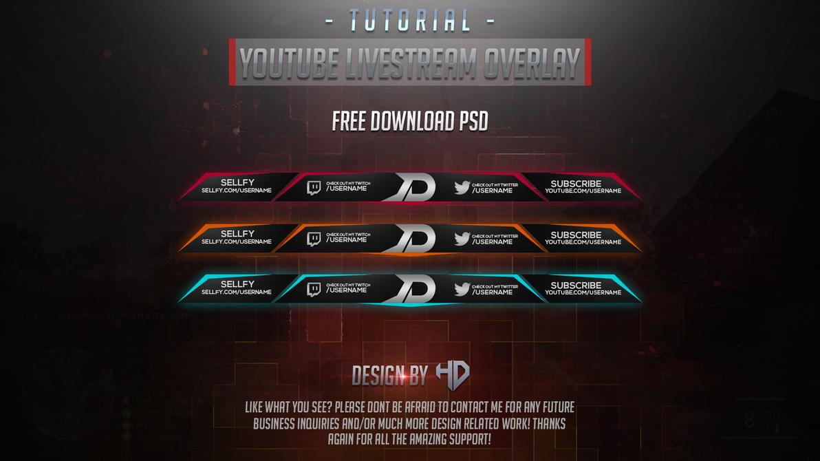 YouTube Livestream Overlay By Houssem Designer by houssemdesigner