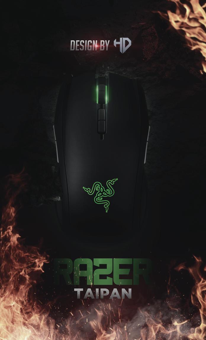Poster Mouse Razer Taipan By Houssem Designer by houssemdesigner