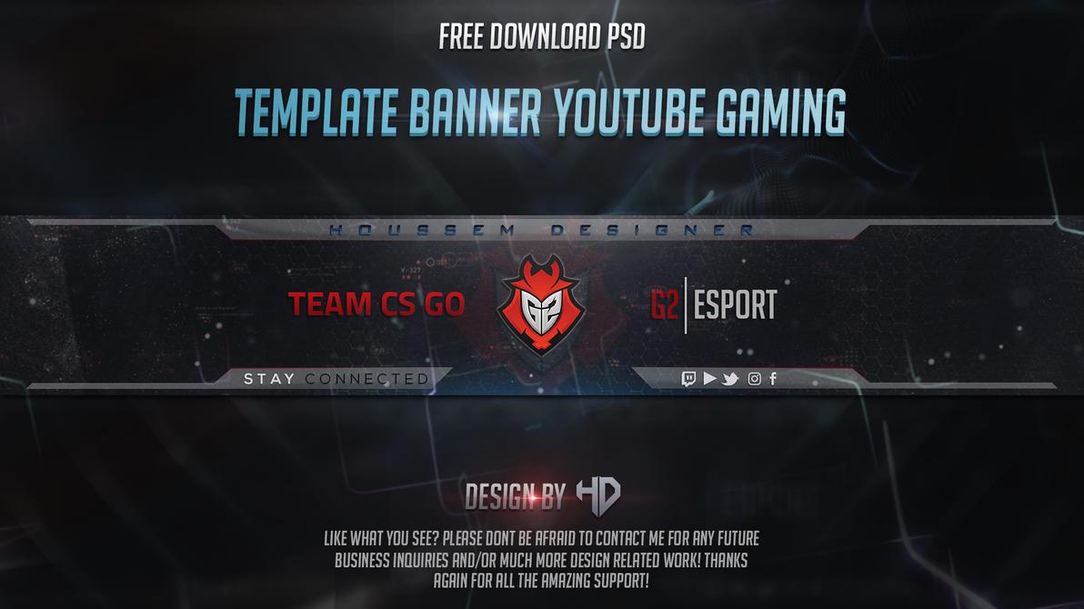 Template Banner Youtube Gaming G2 Esport by houssemdesigner