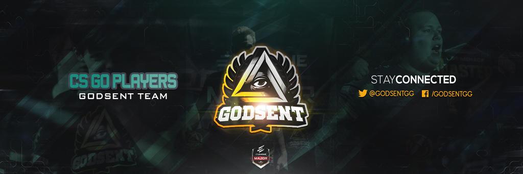 Header Twitter Gaming Godsent Team Cs go by houssemdesigner