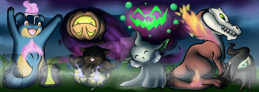 A Ghostly Halloween [Speedpaint] by foxdeamon