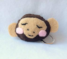 Sweet Monkey Plush Keychain