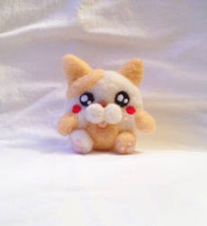 Fat Felted Cat plushie