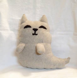 Fluffy Ghost Cat plushie