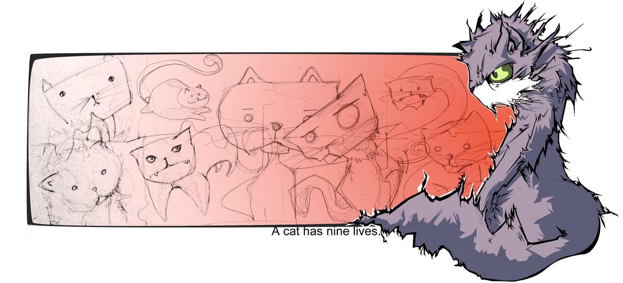 A cat has nine lives by Kule
