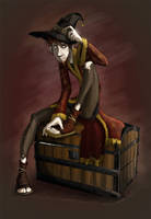 Rincewind and the Luggage by rhianimated