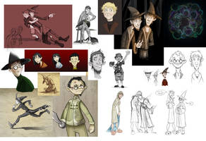 Discworld Sketchdump by rhianimated