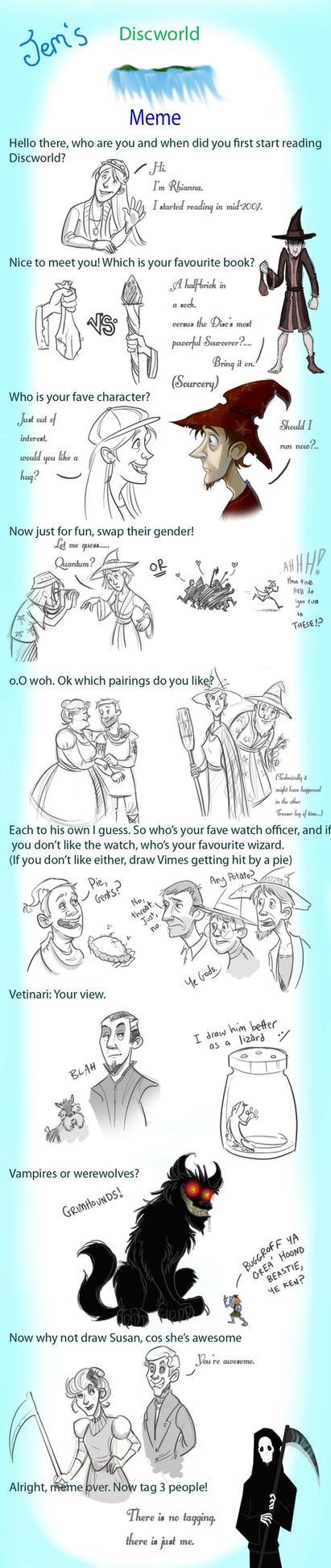 Discworld meme by Jem by rhianimated