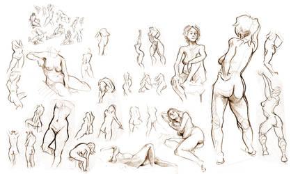 Life Drawing by rhianimated