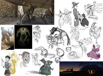 Discworld Sketchdump II by rhianimated