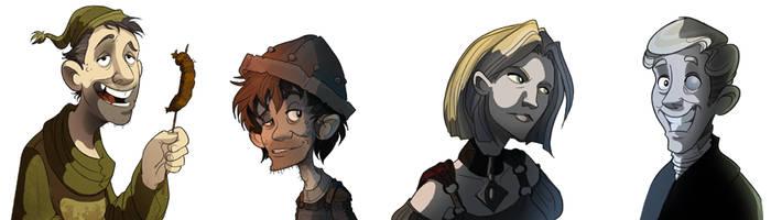 Random Discworld Characters by rhianimated