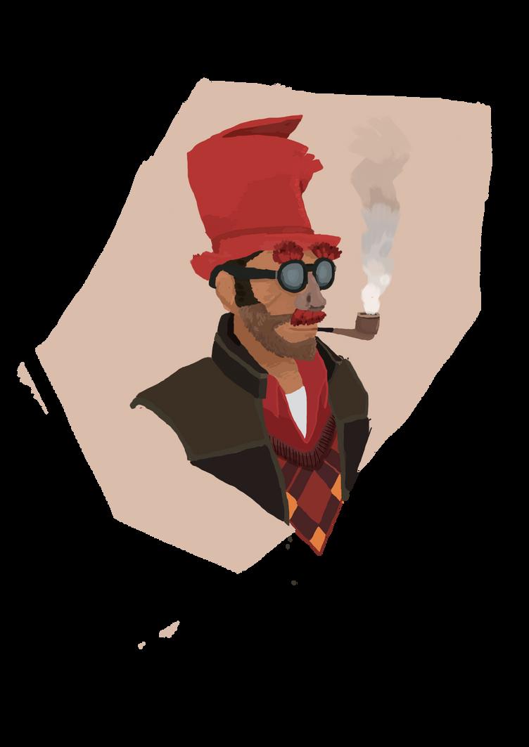 TF2: Sniper Bust by PixelLeaf