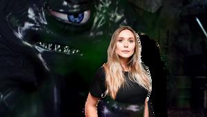 Elizabeth Olsen captured by the tar monster