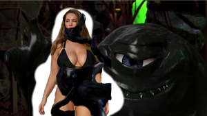 Kelly Brook stuck in the tar monster trap 1