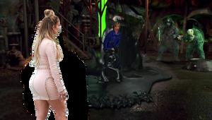 Jennifer Lopez encounters The Tar Monster