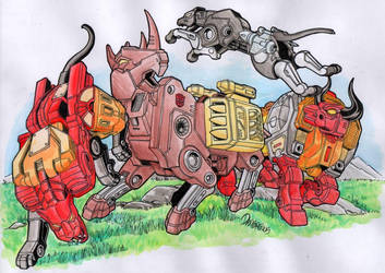 TRANSFORMERS: Battle of the Primitives by Myst222007