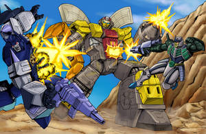 Commission: Omega Supreme vs Overlord +Thunderwing