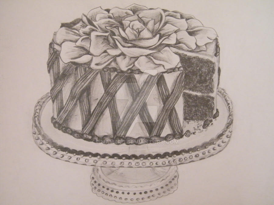 How To Draw Cake Images : Cake Drawing by Namiiru on DeviantArt