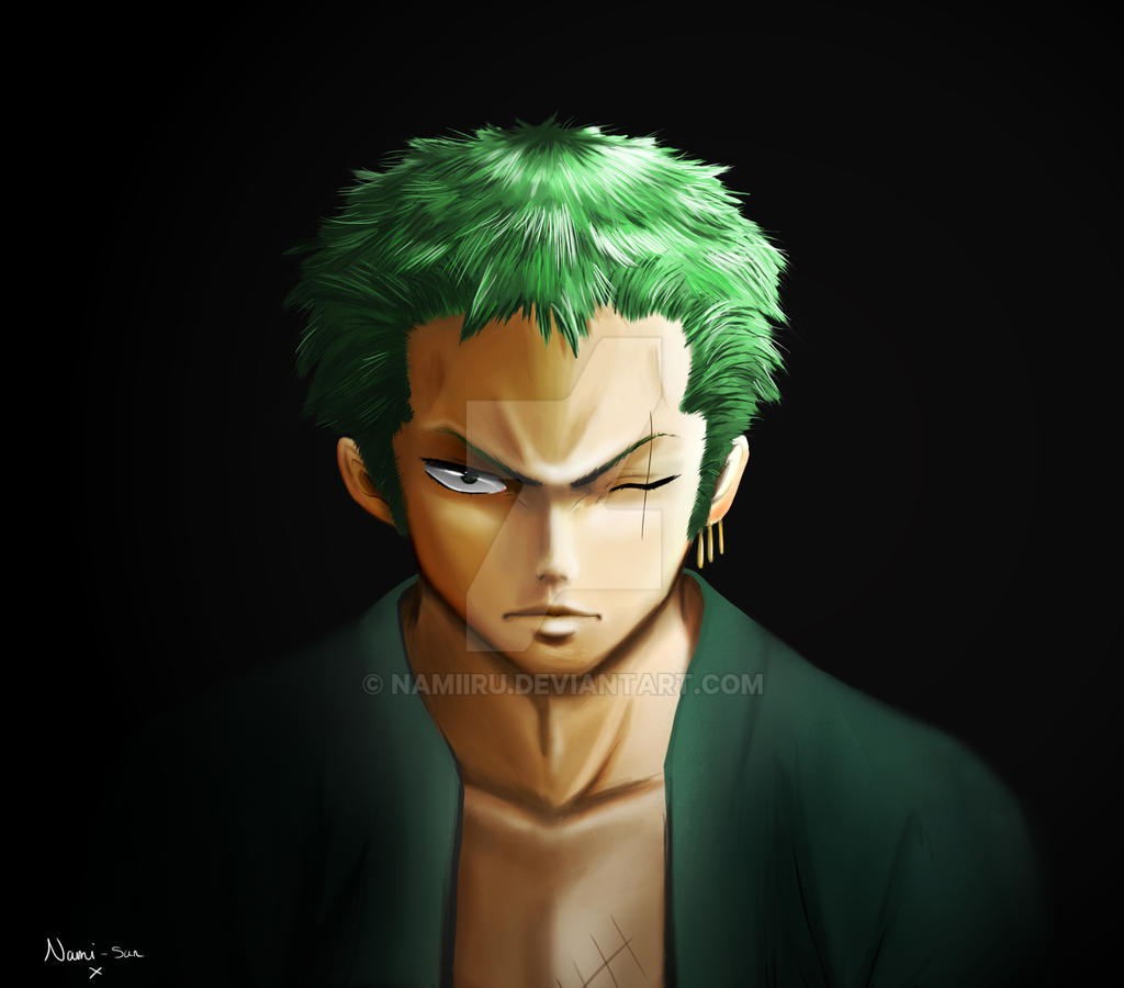 One Piece Zoro Wallpaper: New World Zoro Portrait By Namiiru On DeviantArt